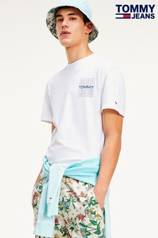 Tommy Jeans White Repeat Logo T-Shirt