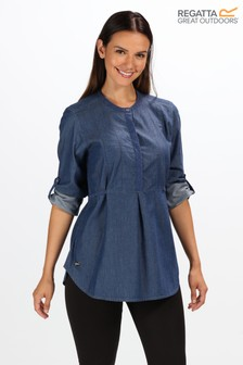 Regatta Blue Maladee Long Sleeve Shirt