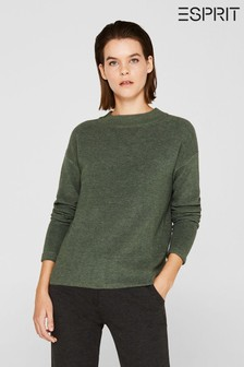 Esprit Green Cotton Blend Jumper