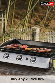 3 Burner Gas BBQ Plancha with Stand By Callow