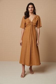 Платье с завязкой спереди