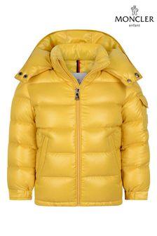 Boys Yellow Down Padded New Maya Jacket