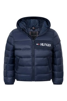 Boys Navy Padded Jacket