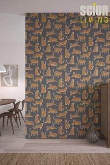 Scion Blue Lionel Cheetah Wallpaper