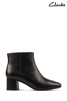 Clarks Black Leather Sheer Flora 2 Boots