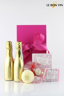 Pretty In Pink Prosecco Pamper Gift Set by Le Bon Vin