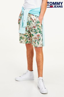 Tommy Jeans Cream Floral Print Shorts