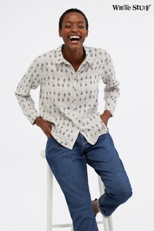 White Stuff Amelie Printed Linen Shirt