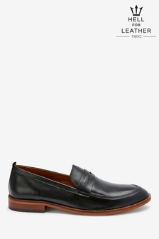 Leather Saddle Loafers