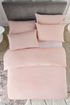 Pink Easy Care Polycotton Bed Set