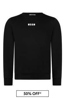 Girls Black Cotton Sweatshirt