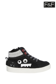 F&F Black Monster High Top Shoes