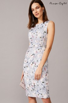 Phase Eight Mineral Etta Carnation Floral Jersey Dress