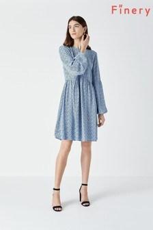 Finery Blue Castille Mini Dress