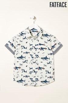 FatFace Natural Shark Print Shirt