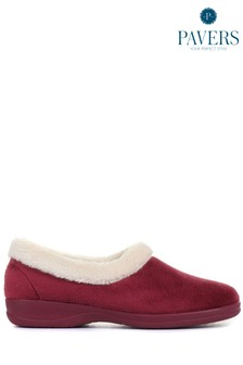 Pavers Burgundy Ladies Full Slippers