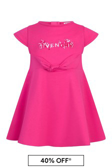 Givenchy Kids Baby Girls Pink Cotton Dress