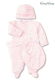 Kissy Kissy Pink Hearts Print 3 Piece Gift Set