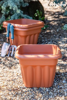 Set of 3 Vista 33cm Square Garden Planters by Wham
