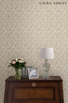 Laura Ashley Natural Willow Leaf Wallpaper