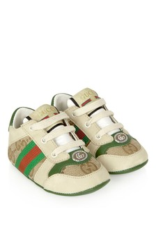 GUCCI Kids Baby Beige Trainers