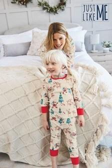 Matching Mother & Me Kids Christmas Scene Pyjamas (9mths-16yrs)