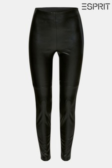 Esprit Black Faux Leather Skinny Trousers