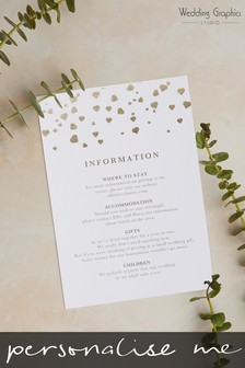 Personalised Confetti Information Card by Wedding Graphics