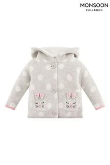 Monsoon Newborn Baby Bunny Spot Cardigan