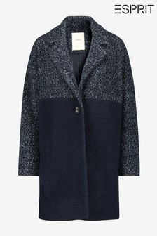 Esprit Blue 2-Tone Fabrix Mix Coat
