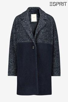 Esprit Blue 2-Tone Fabrix Mix Coat