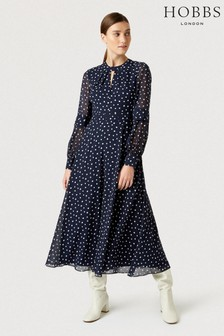 Hobbs Blue Piper Dress