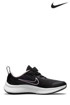 Nike Black/Pink Star Runner 3 Junior Trainer