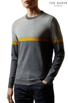Ted Baker Push It Striped Crew Neck Jumper