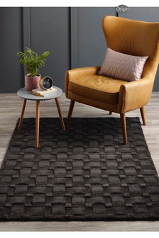 Origins Textured Basketweave Wool Rug