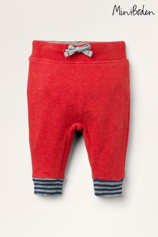 Mini Boden Red Essential Jersey Trousers