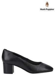 Hush Puppies Black Anna Slip-On Court Shoes