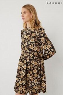 Warehouse Winter Daisy Mini Dress