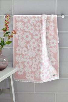Pink Floral Towel
