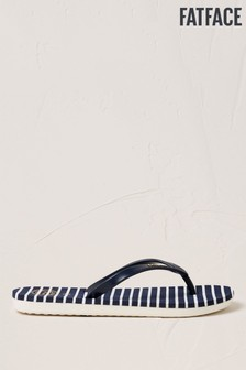 FatFace Navy Hope Stripe Flexi Flip Flops
