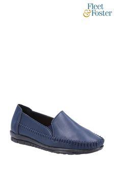 Fleet & Foster Blue Shirley Slip-On Shoes