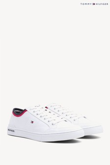 Tommy Hilfiger White Corporate Textile Trainers