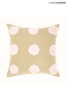 Pink Haze Tufted Spot Pillowcase Sham by Linen House