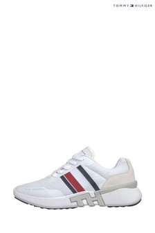 Tommy Hilfiger White Lightweight TH Runner Trainers