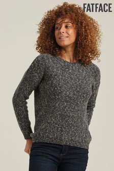 FatFace Grey Maya Textured Jumper