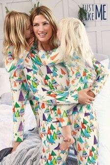 Matching Mother & Me Womens Christmas Trees Pyjamas