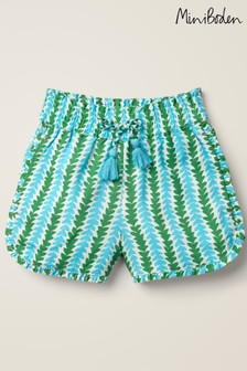 Mini Boden Blue Frill Detail Shorts