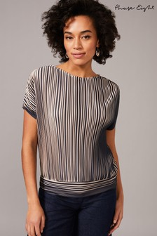 Phase Eight Neutral Pacey Pleat Top