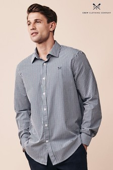 Crew Clothing Company Ivy Navy Crew Classic Tattersall Shirt