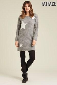 FatFace Kleid mit Sternmotiv, Grau